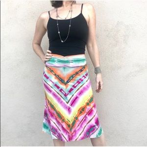 Anthropologie colorful rainbow SKIRT midi striped